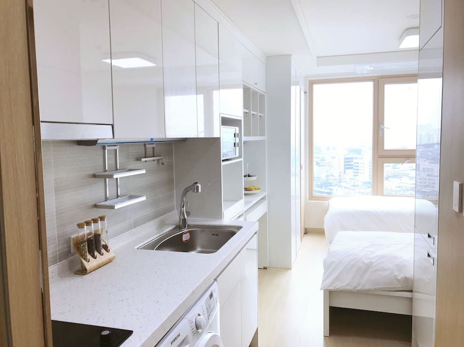 City view newly built jamsil world apt for M kitchen world chop wash