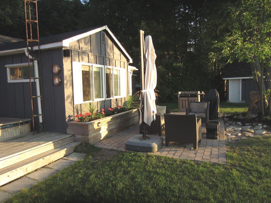 lake side patio