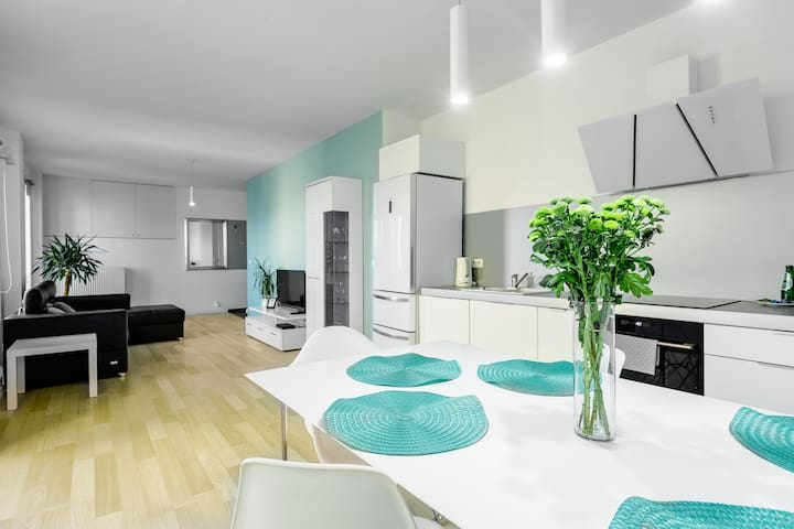 Apartment with 2 bedrooms and balcony A/C