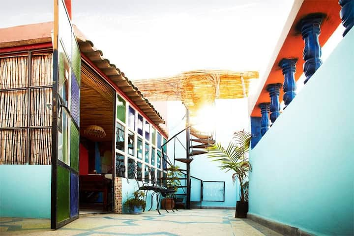 Hostel SDN surf morocco in Tamraght - shared 4pers