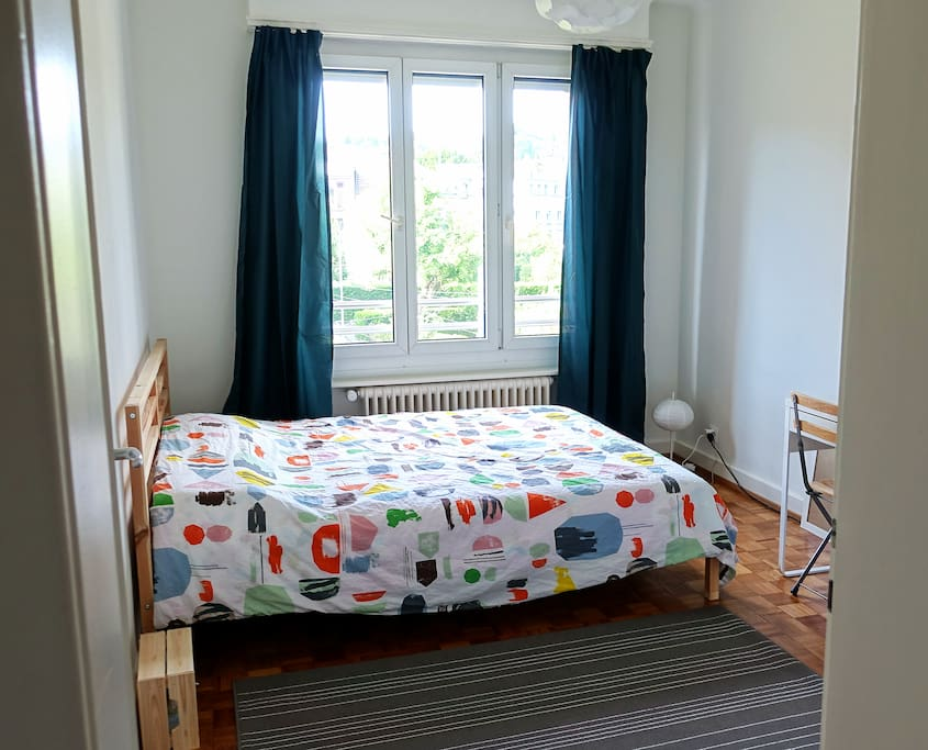Double bed.  This is the room you will be staying :)