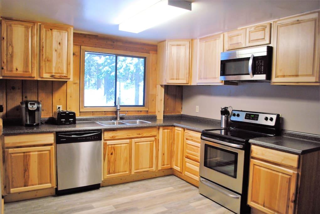 The kitchen is on the main floor.