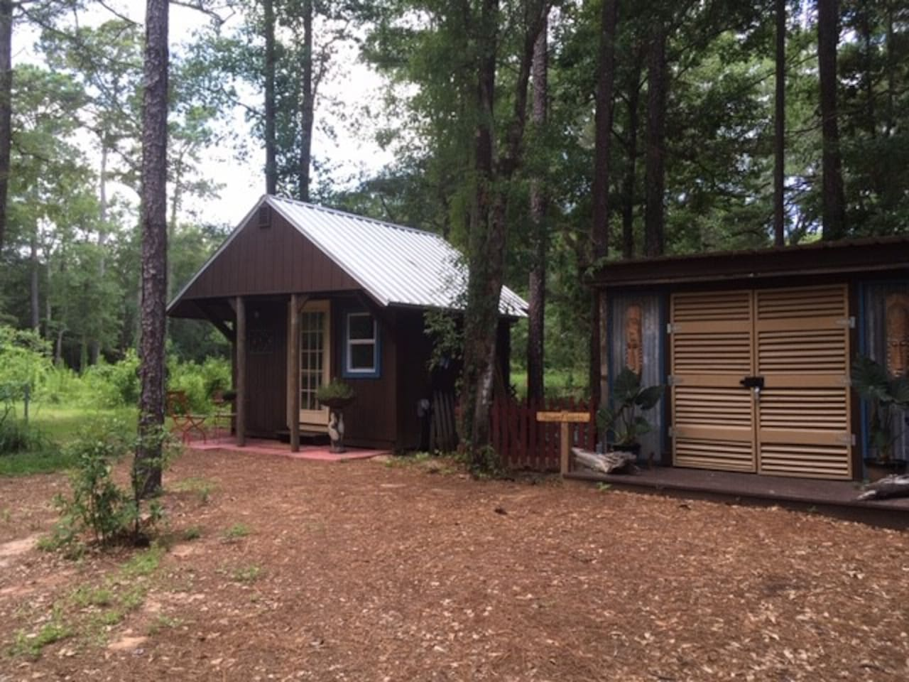 Cottage exterior, just steps away from the Shower House