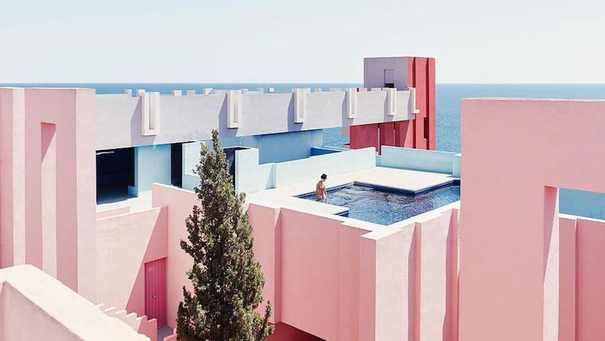 La Muralla Roja- Room in Ocean View Apartment
