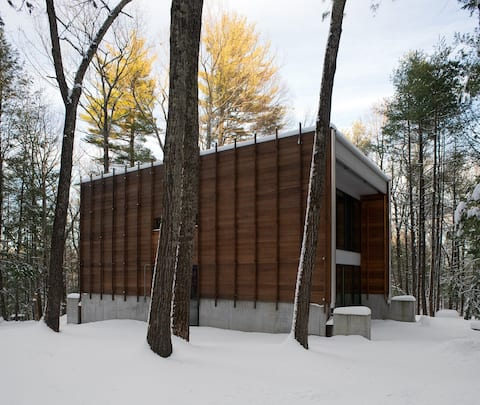 Architect's Hudson Valley Home in the Woods