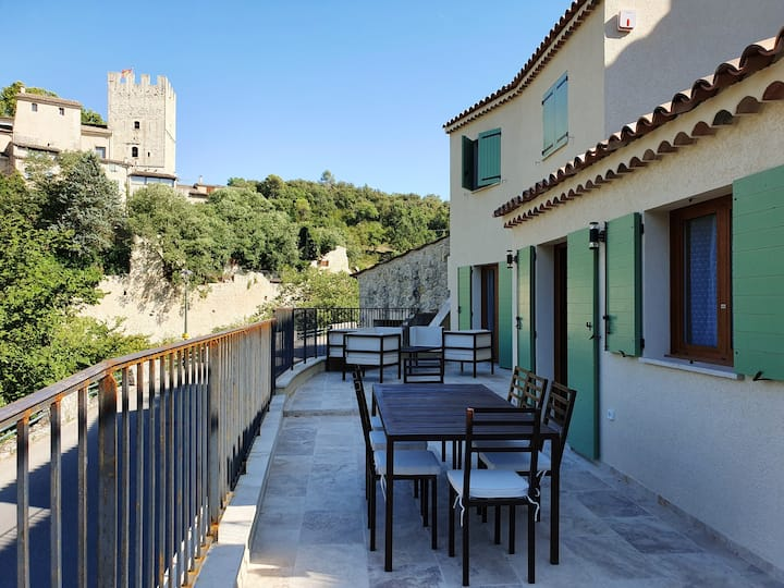 House with 3 bedrooms in Esparron-de-Verdon, with furnished terrace and WiFi