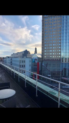 In the heart of Malmø City, with private balcony.
