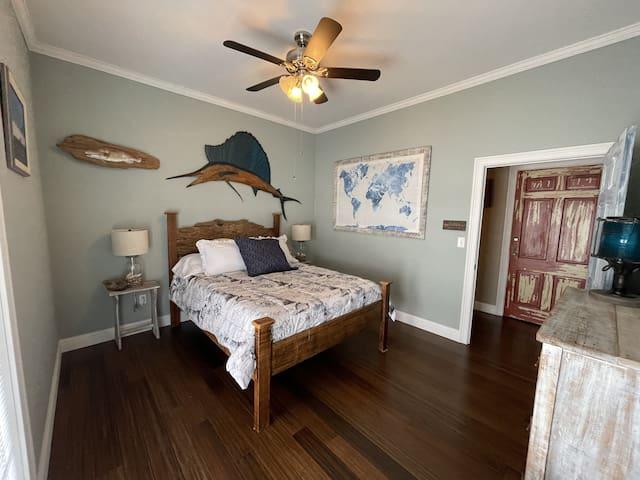 Queen size bed; Bedroom 2