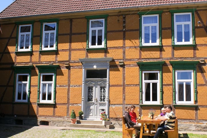 Beautiful group accommodation in Hüttenrode in a renovated Harz half-timbered home