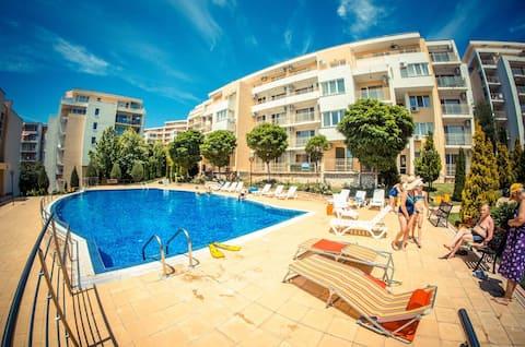 Modern stylish sea side resort apartment