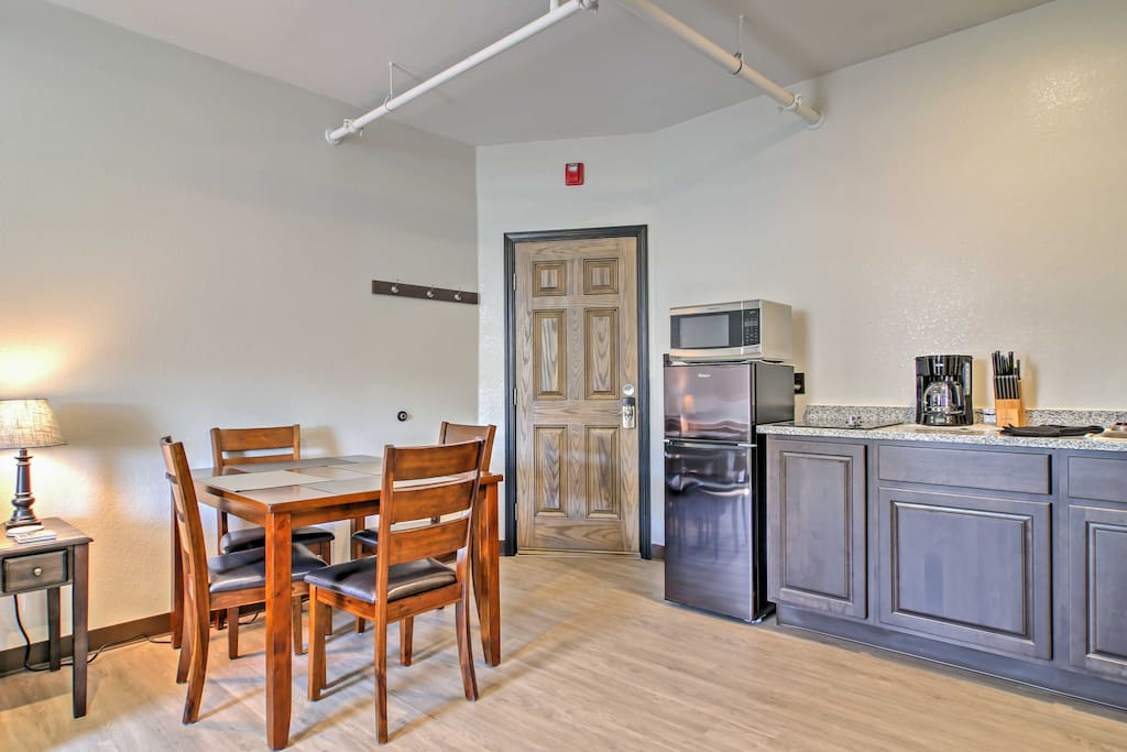 Share home-cooked meals and relax during your downtime using the unit's modern amenities.