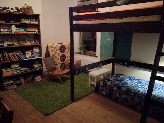 Spacious and quiet room with sleeping place for at least 4 people