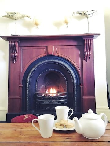 Find a cosy place to enjoy cups of tea and a great book.