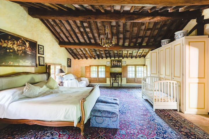 Limonaia Room - In a Historical Villa in Tuscany
