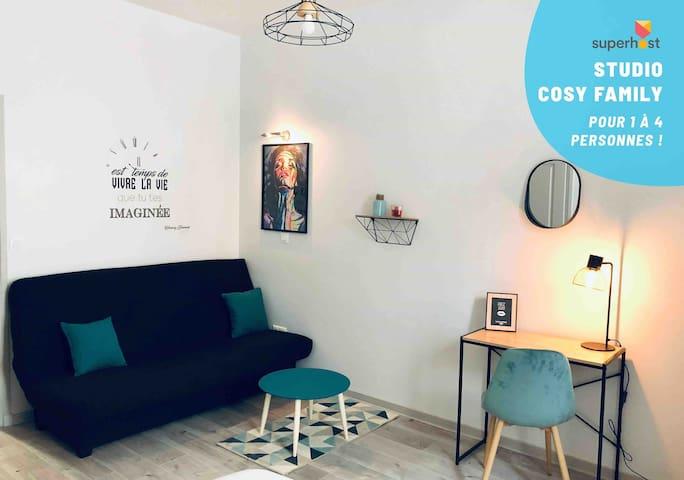 Studio Cosy «Family**» proche gare et cinéma !