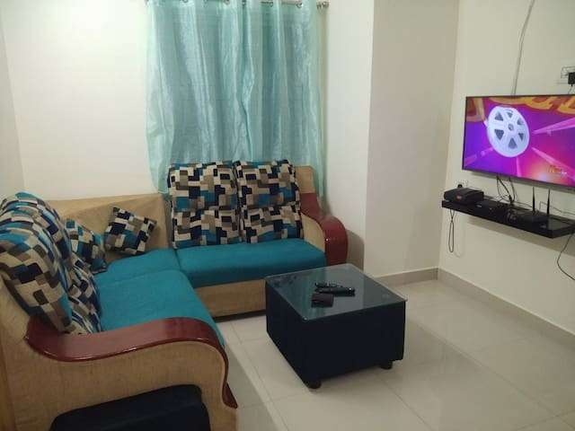 TV and Sofa area