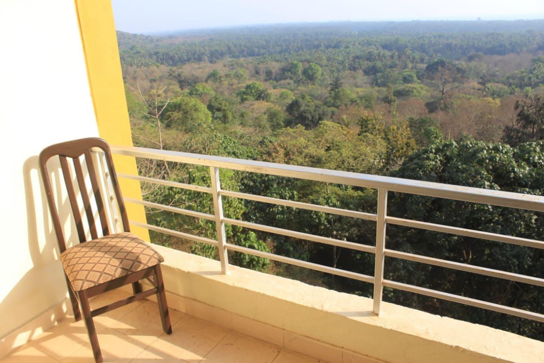 Balcony with Three Kings chapel & Ocean View.