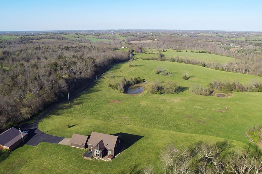 Drone photo showing the farm
