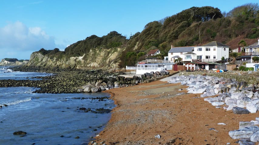 Steephill Cove less than 5 minutes walk from Petit Tor. Unspoiled Cornish style cove with cafes and seafood restaurant.