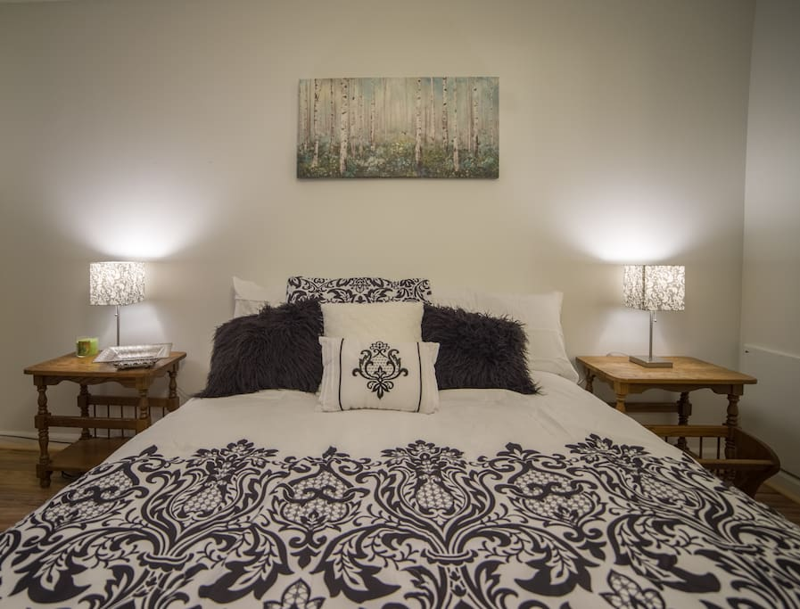 Queen size bed with Serta sleep top
