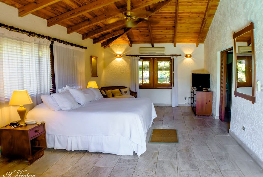 Master Suite with King-Sized Bed and A/C