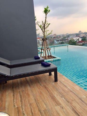 VioCondo Khae rai2 Lille hyggelig lejlighed i BKK - Nonthaburi - Apartamento