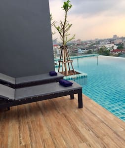 VioCondo Khae rai2 Lille hyggelig lejlighed i BKK - Nonthaburi - Huoneisto