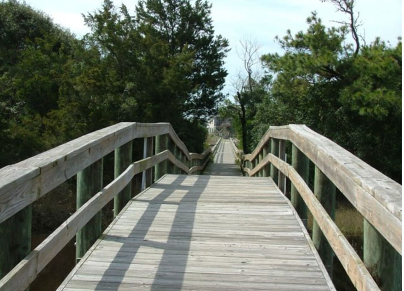 Scenic walkway to the beach.