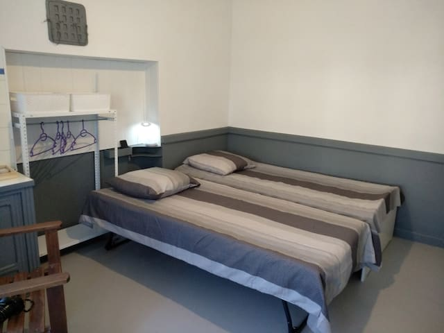 Chambre 4, 2 lits, rez-de-chaussée