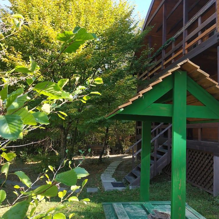 Дом-шале у леса в горах Адыгеи и Лагонаки