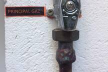 Coupure générale du gaz (externe)