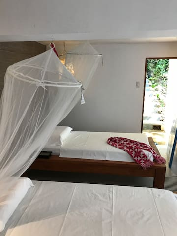Lower floor room - two single beds