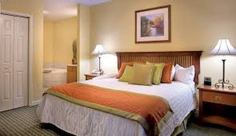 COMFY KING BED IN THE MASTER BEDROOM