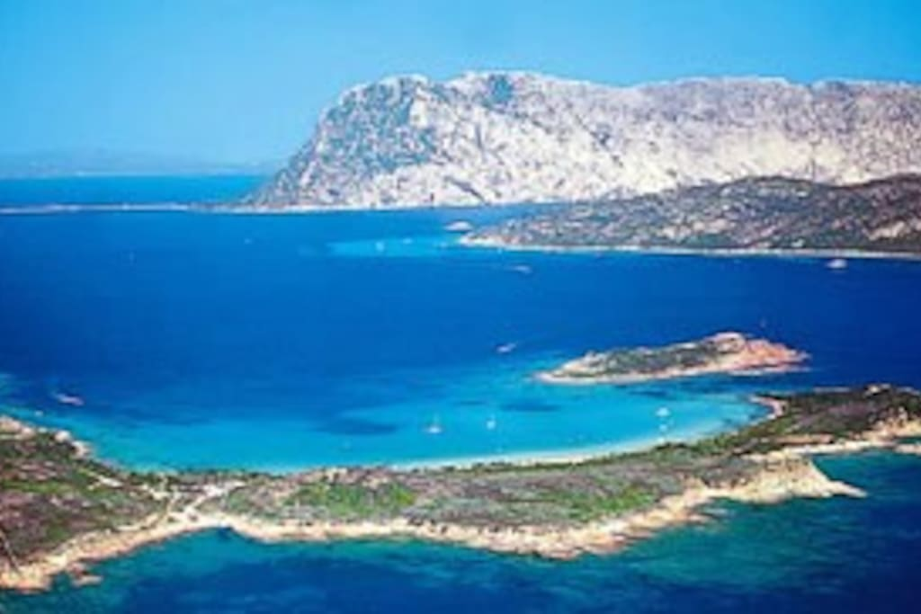 Tavolara surrounded by stunning beaches