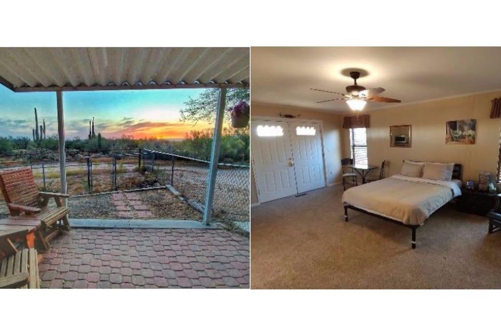 private suite with views on horse property suites louer cave creek arizona tats unis. Black Bedroom Furniture Sets. Home Design Ideas