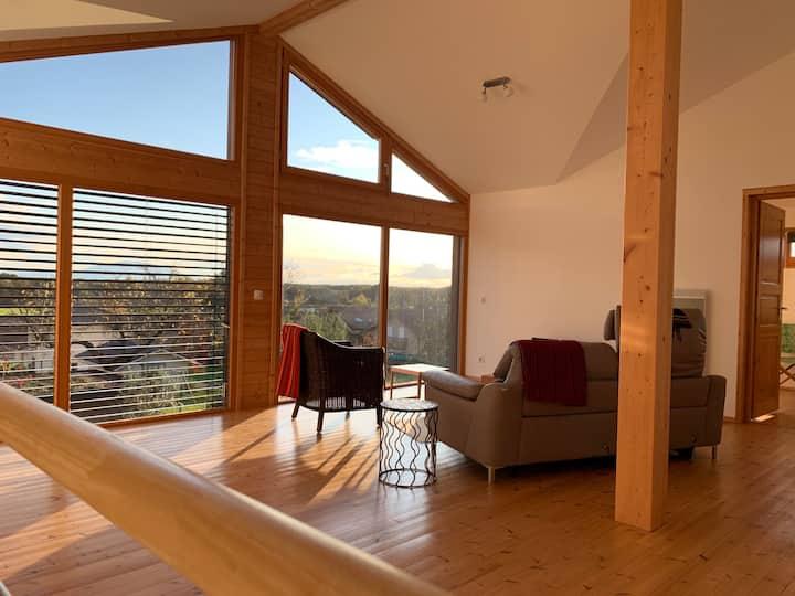 Topfloor/Loft by Lake Geneva/Yvoire - Two Doubles