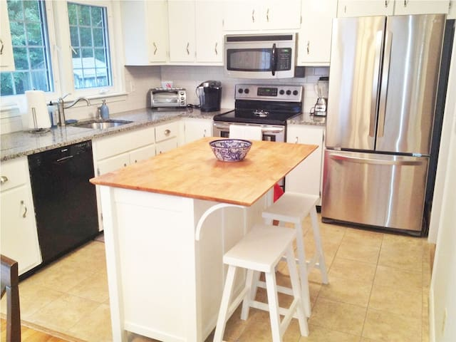 Updated with kitchen with granite and new appliances