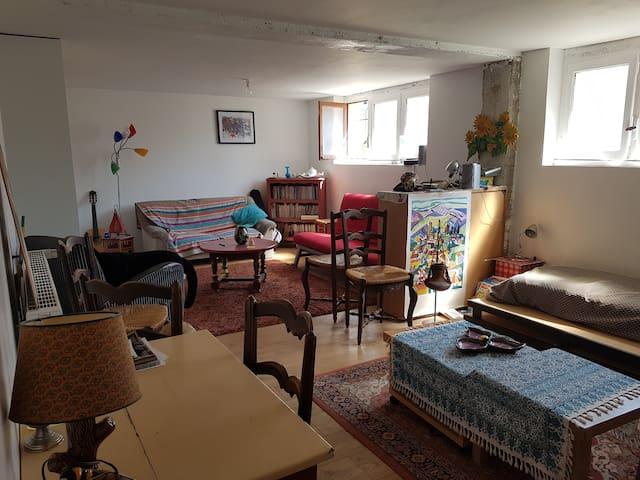 Studette dans maison avec jardin