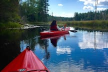 Great kayaking in nearby, lakes, ponds and rivers.
