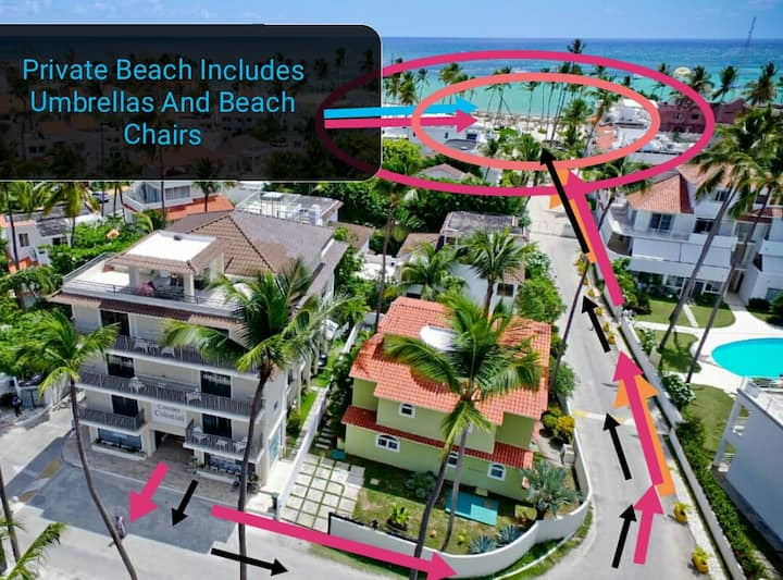 1 BR Beach Apartment, A4Corales Colonial