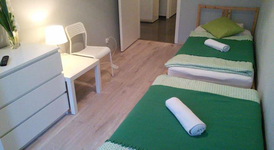 Przytulny pokój z 2 łóżkami w centrum miasta