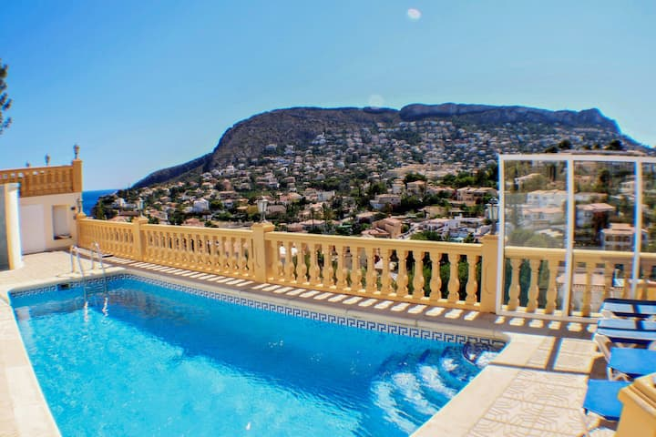 Tosal Julia - sea view villa with private pool in Calpe