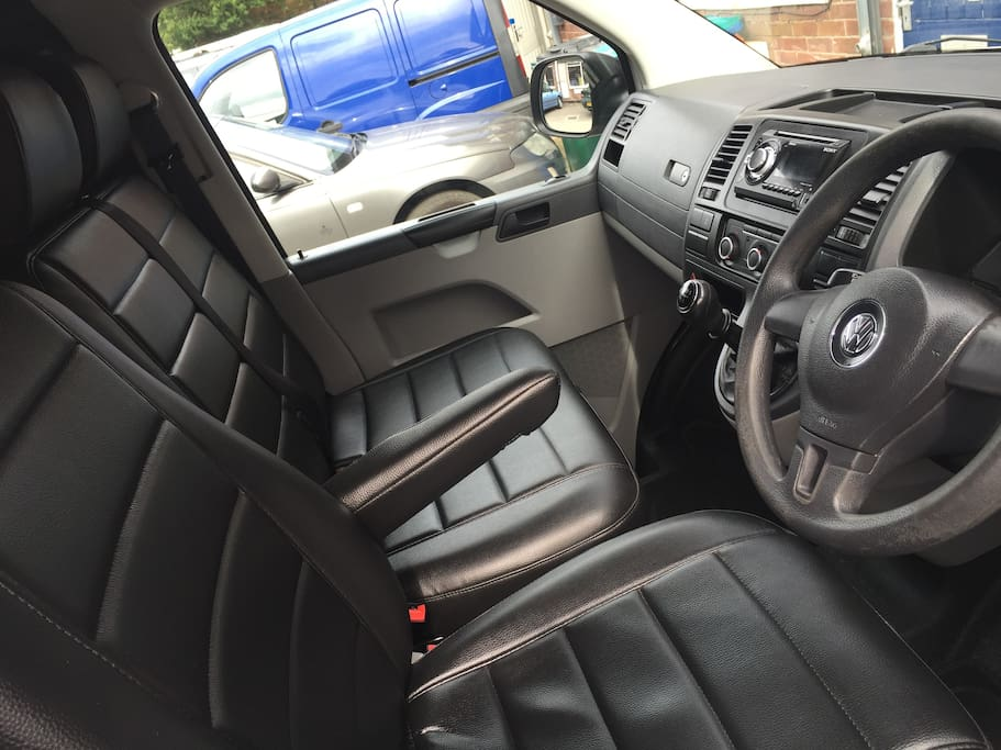 Front Interior - All 3 Seats Can Swivel To Face Rear Of Van - Manual Gear Box - Air Conditioning - Additional Storage Under Passenger Seats