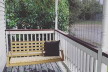 Front Porch Swing (you can see the bridge from here)