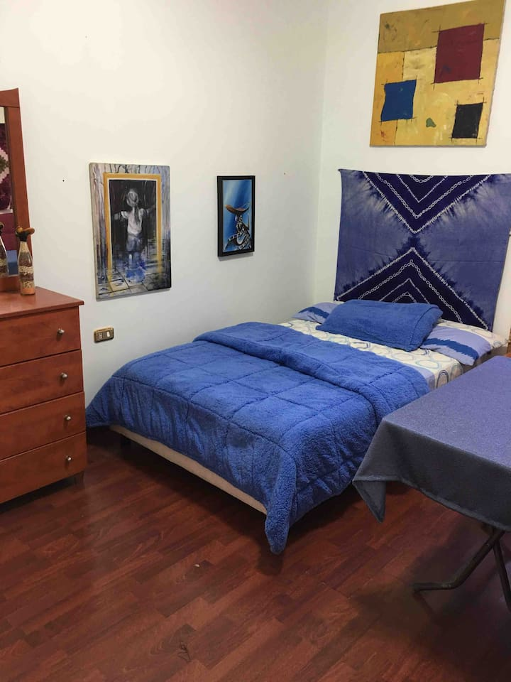 Room with double bed. Also available in the same room a sofa bed.
