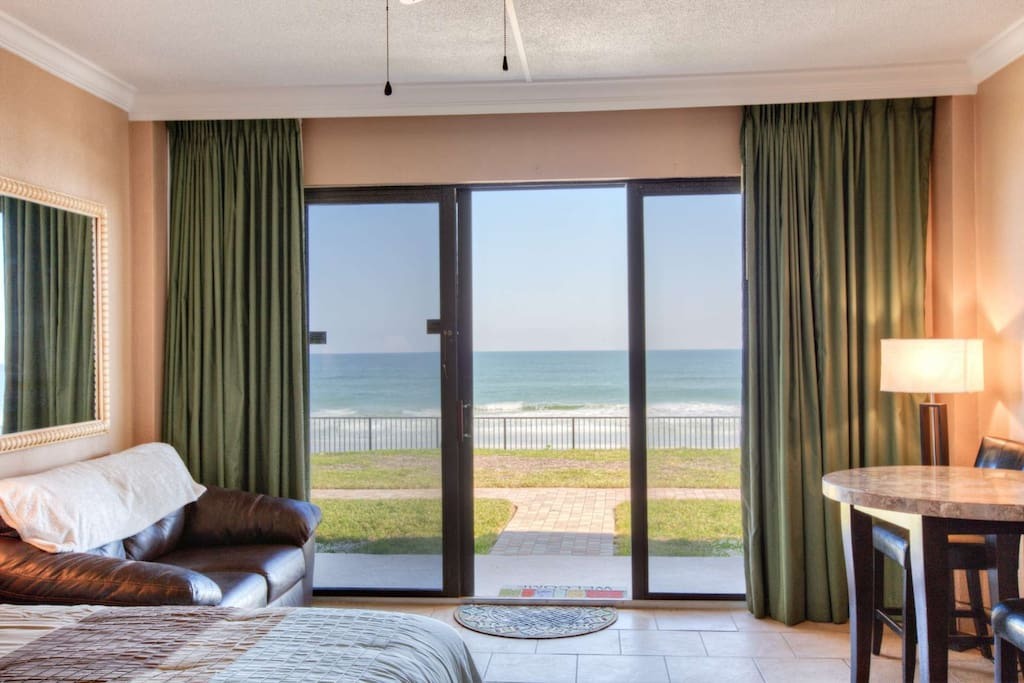 Your direct view facing the ocean.