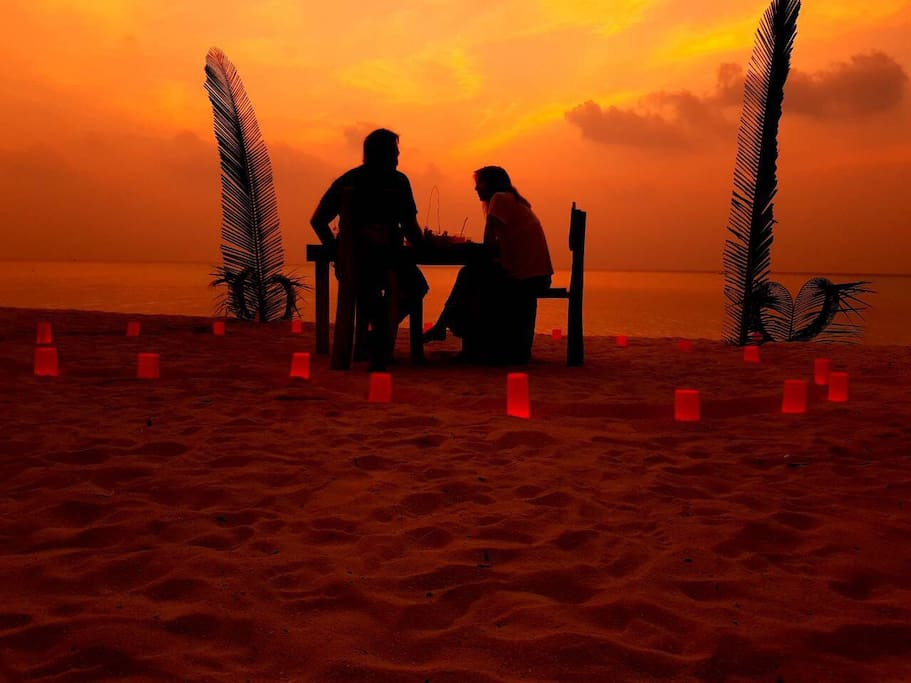 Sunset Candle Light Romantic Dinner