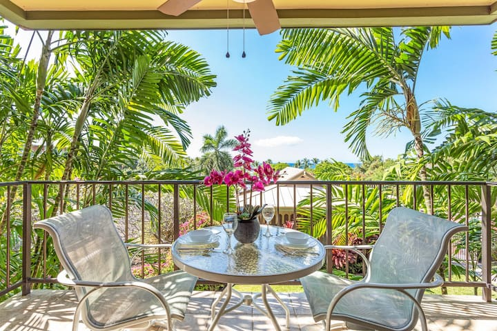 Kahaluu Bay Villas 103, AC, Walk to Beach, Ocean View