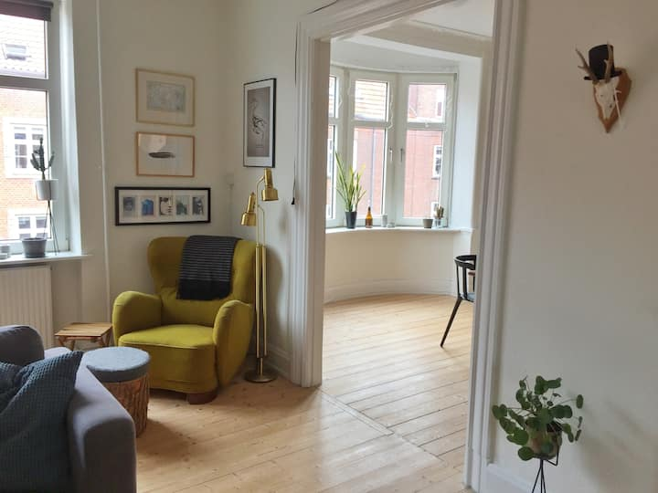 Large cozy apartment in central Aalborg