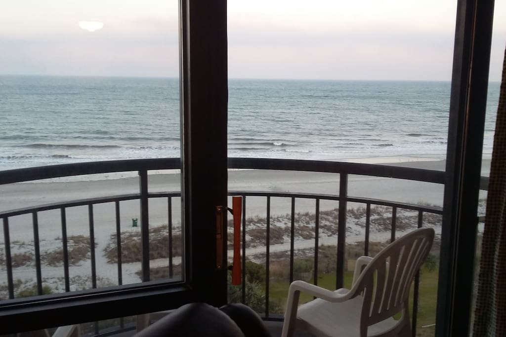 Wake up to amazing sunrises with a cup of coffee on your ocean front balcony.  What a life!  What a view!